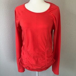 Athleta Women's Ruched Long Sleeve Top XL